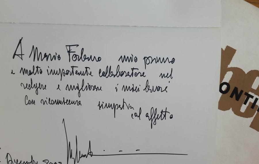 """""""dedica dell'architetto Luigi Caccia Dominioni a Mario Folnano-poeticadelle regole"""""""