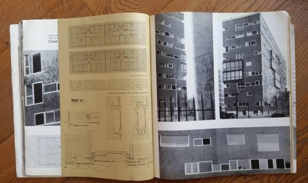 Casabella n. 217 anno 1957 - pagg. 48- 49 edificio di Via Nievo 28/a