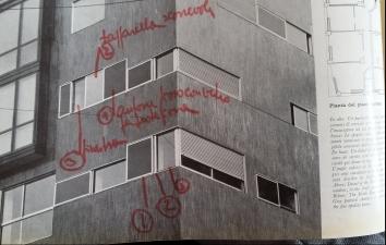 """""""facciata edificio di Via Nievo-Casabella 1957 pag. 52-poeticadelleregole"""""""
